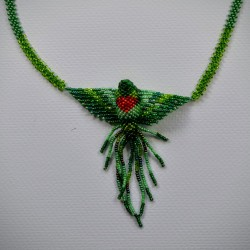 Necklace bead hummingbird