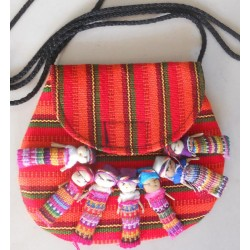 worry doll purse half moon