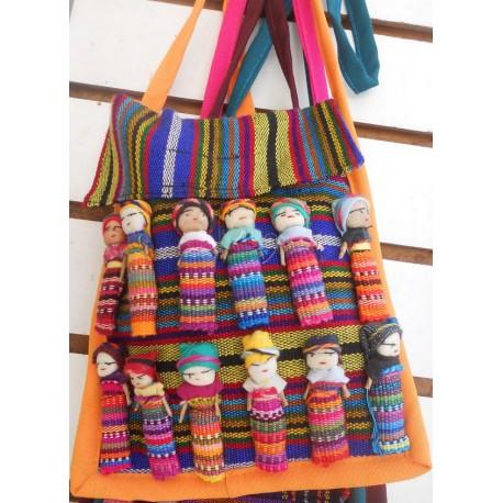 worry doll purse flap closure