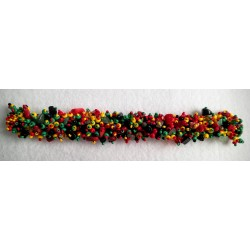 Bracelet bead stone chip rasta