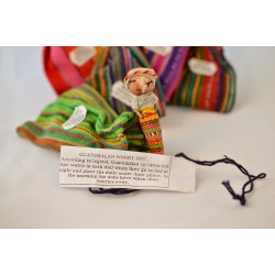 Worry doll couple - 3 inch boy and girl in drawstring bag