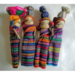 Worry Doll mother and child with basket on head