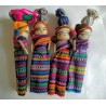 Worry Doll mother and child with items on head