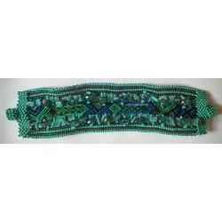 Bracelet Stone Chip Embroidered