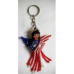 Keychain bead USA angel