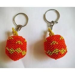 Keychain bead pumpkin