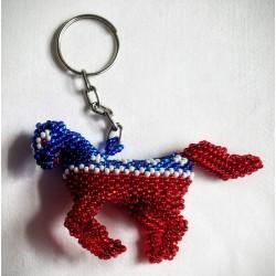 Keychain bead Democrat donkey