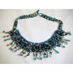 necklace stone/bead crystal mesh