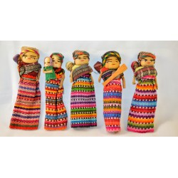 Worry Doll mother and child with no magnet