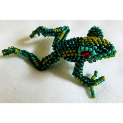 Pin beaded frog