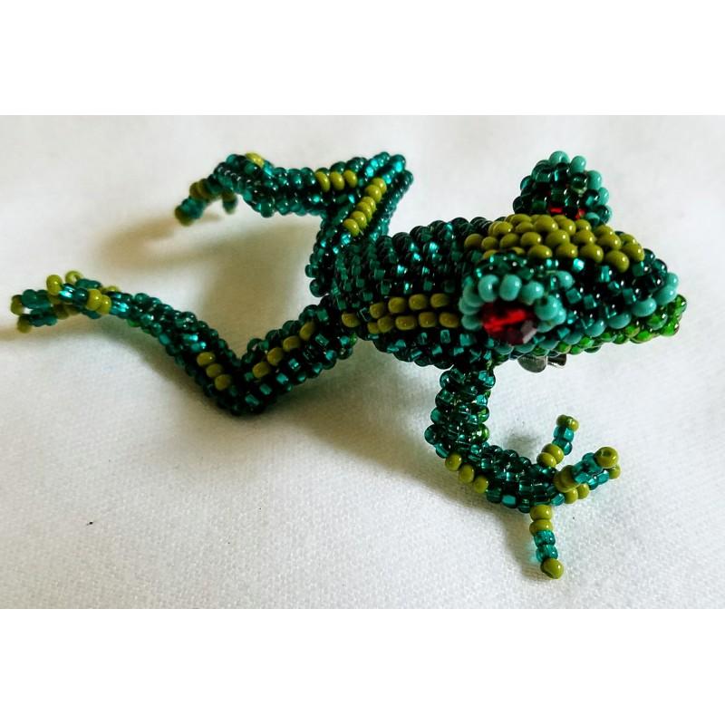 Pin beaded frog
