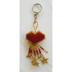 Keychain bead heart