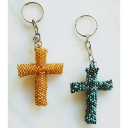 Keychain bead cross