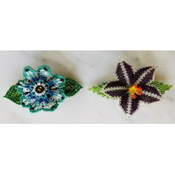 Barrette bead 3D flower
