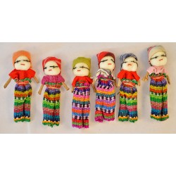 Two inch boy worry dolls - dozen