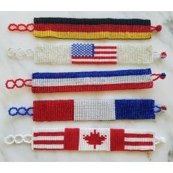 Bracelet bead 8 row US flag