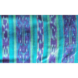 cloth jaspe (ikat) green blue purple