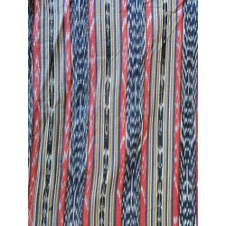 cloth jaspe (ikat) orange black blue