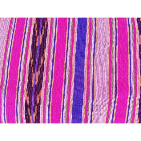 cloth jaspe (ikat) pink bold tan brown