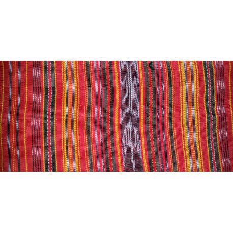 cloth jaspe (ikat) red orange yellow