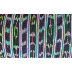 cloth jaspe (ikat) black purple green