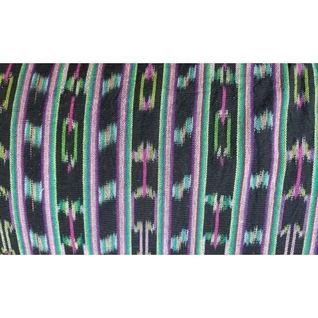 cloth jaspe (ikat) black purple green