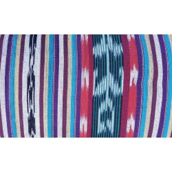 cloth jaspe (ikat) purple red blue