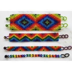 Bracelet bead 8 row rainbow
