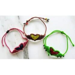Bracelet heart adjustable