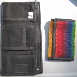 Rainbow trifold wallet