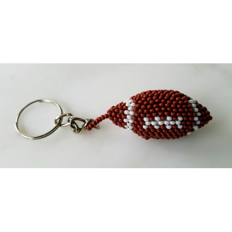 Keychain bead football