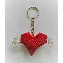 Keychain bead flying heart