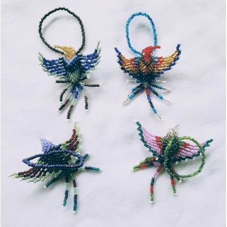 Ornament bead hummingbird