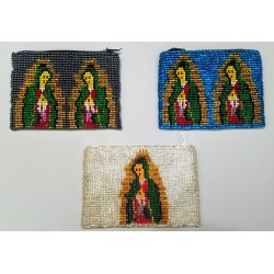 Coin purse bead Virgen Guadelupe