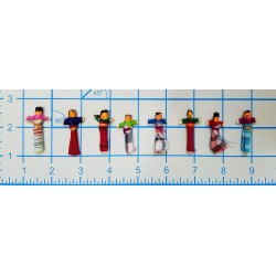 "Worry Dolls 1.25 inch gross ""old school"""