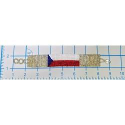 Bracelet bead 16 row Texas flag