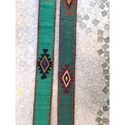Southwest leather cotton belt green