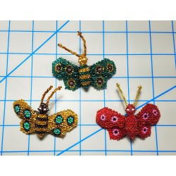Barrette bead butterfly SMALL