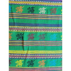 cloth - yards or rolls of fabric - Comalapa - green 9.5 inches wide