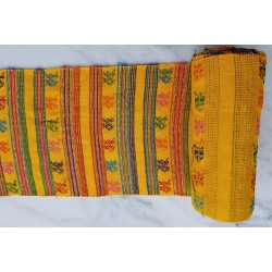 cloth - yards or rolls of fabric - Comalapa - yellow 9.5 inches wide