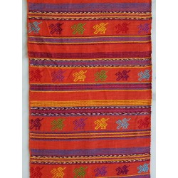 cloth - yards or rolls of fabric - Comalapa - orange 9.5 inches wide