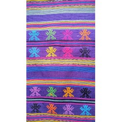 cloth - yards or rolls of fabric - Comalapa - purple 9.5 inches wide