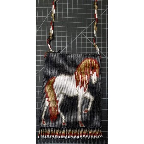 bead purse horse