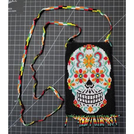 bead purse skull