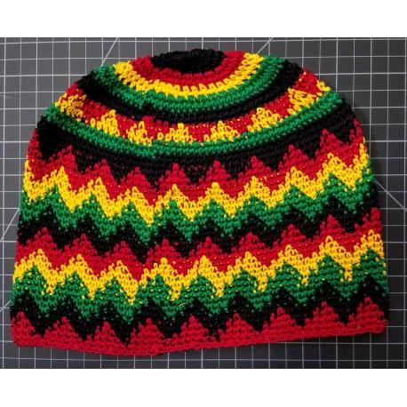 Hat cotton beanie long rasta