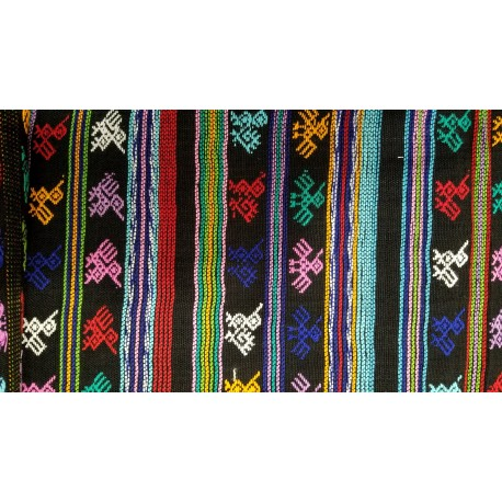 cloth - yards or rolls of fabric - Comalapa - black 13 inches wide