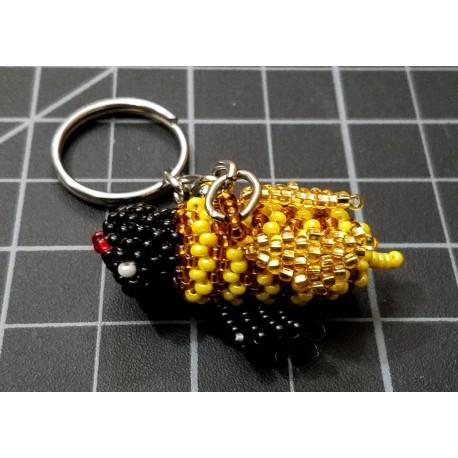 Keychain bead bee