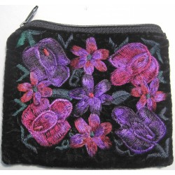 coin purse velvet embridered