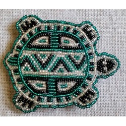 Barrette bead turtle flat