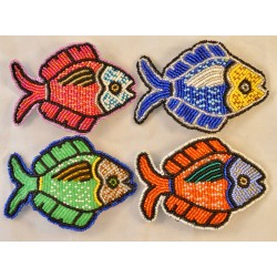 Barrette bead fish flat